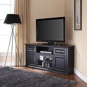 """Crosley 60"""" Corner TV Stand in Black (CF1000260-BK)"""