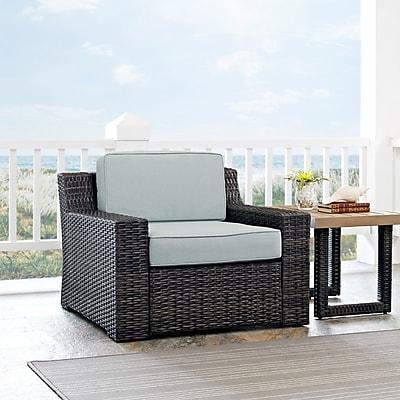 Crosley Beaufort Arm Chair With Mist Cushion (CO7155-BR)
