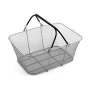 Design Ideas Mesh ShopCrate Basket, Silver (23009)