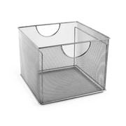 Design Ideas Mesh File Box, Silver (34279)