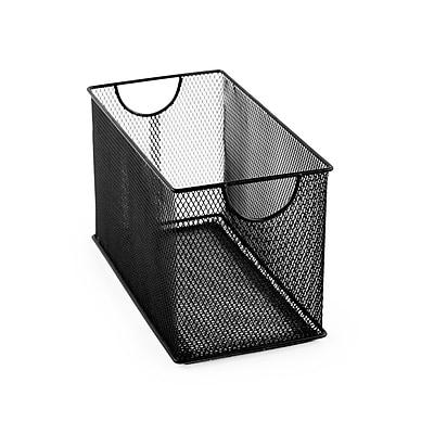 Design Ideas Mesh Stacking Bin, 6.3 H x 11 D x 5.7 W in., Black (342894)