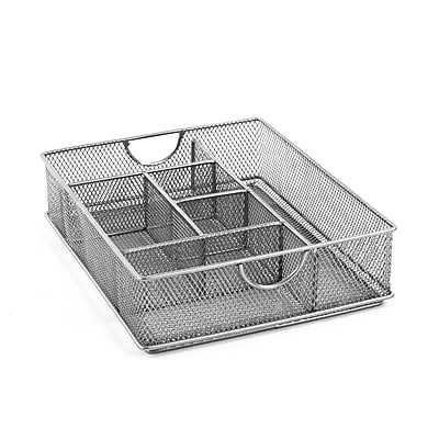 Design Ideas Mesh Vanity Organizer, Silver (351539)