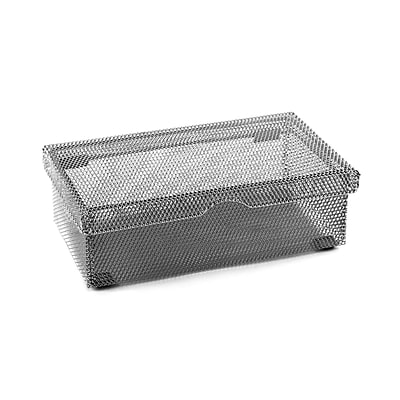 Design Ideas Mesh Hinged Pencil Box, Silver (353029)