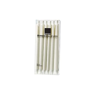Design Ideas Monochrome Gel Pens, Set of 6, White (3201905)