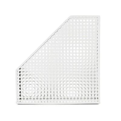 Design Ideas Steel Edison Magazine File, White (3434827)