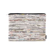 Design Ideas Folio Pouch, Large, White Newsprint (6602321)