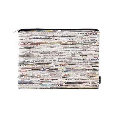 Design Ideas Folio Pouch, Large, White Newsprint (6602321)