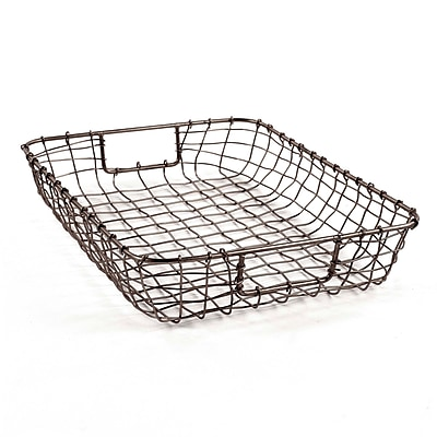 Design Ideas Wire Cabo Letter Basket, Natural (8758651) 24214416