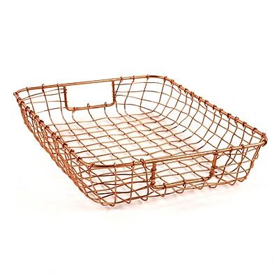 Design Ideas Wire Cabo Letter Basket, Copper (8758656)