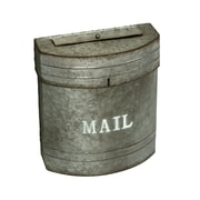 AdirHome Sandy Grey Galvanized Pail Style  Mailbox (303-03)