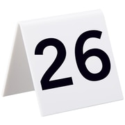 "Alpine Industries 3""x3"" 25 Piece Acrylic Tent Style Table Numbers, Numbered 26 Through 50 (493-26-50)"