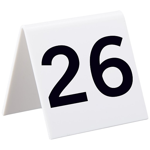 Alpine Industries 3 X3 25 Piece Acrylic Tent Style Table Numbers