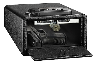 AdirOffice Small Black Steel Quick Access Pistol Safe (671-200-BLK) 24287917