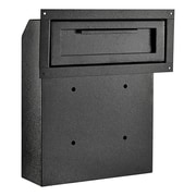 AdirOffice Black Through-The-Door Safe Locking Drop Box (631-06-BLK)