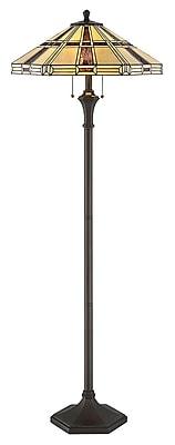 Satco Lighting 2 Light Dark Bronze Floor Lamp With Tiffany Shade (STL-LTR497233)