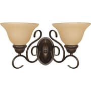 Satco Lighting 2 Light Sonoma Bronze Bath Vanity with Champagne Linen Shades (STL-SAT610318)