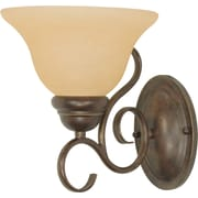 Satco Lighting 1 Light Sonoma Bronze Bath Vanity with Champagne Linen Shade (STL-SAT610325)