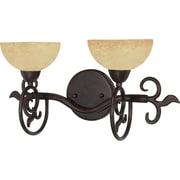 Satco Lighting 2 Light Old Bronze Bath Vanity with Tuscan Suede Glass Shades (STL-SAT600463)