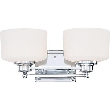 Satco Lighting 2 Light Polished Chrome Bath Vanity with Satin White Glass Shades (STL-SAT645822)