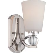 Satco Lighting 1 Light Polished Nickel Bath Vanity with Satin White Glass Shade (STL-SAT654916)
