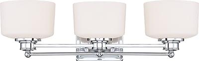 Satco Lighting 3 Light Polished Chrome Bath Vanity with Satin White Glass Shades (STL-SAT645839)