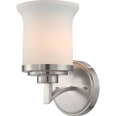 Satco Lighting 1 Light Brushed Nickel Bath Vanity with Satin White Glass Shade (STL-SAT641015)