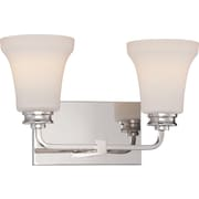 Satco Lighting 2 Light Polished Nickel Bath Vanity with Satin White Glass Shades (STL-SAT324277)