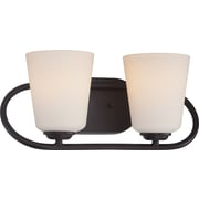 Satco Lighting 2 Light Mahogany Bronze Bath Vanity with Satin White Glass Shades (STL-SAT324178)