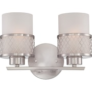 Satco Lighting 2 Light Brushed Nickel Bath Vanity with Frosted Glass Shades (STL-SAT646829)