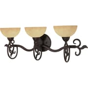 Satco Lighting 3 Light Old Bronze Bath Vanity with Tuscan Suede Glass Shades (STL-SAT600470)