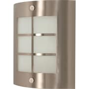 Satco Lighting 1 Light Brushed Nickel Wall Sconce with Frosted Glass Shade (STL-SAT609466)