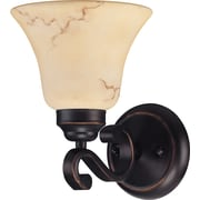 Satco Lighting 1 Light Copper Espresso Bath Vanity with Honey Marble Glass Shade (STL-SAT614125)