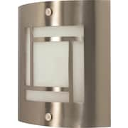 Satco Lighting 1 Light Brushed Nickel Wall Sconce with Frosted Glass Shade (STL-SAT609480)