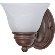 Satco Lighting 1 Light Old Bronze Bath Vanity with Alabaster Glass Shade (STL-SAT603440)