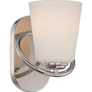 Satco Lighting 1 Light Polished Nickel Bath Vanity with Satin White Glass Shade (STL-SAT324062)