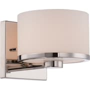 Satco Lighting 1 Light Polished Nickel Bath Vanity with Etched Opal Glass Shade (STL-SAT654718)