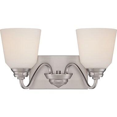 Satco Lighting 2 Light Brushed Nickel Bath Vanity with Satin White Glass Shades (STL-SAT323676)