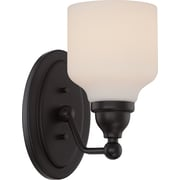 Satco Lighting 1 Light Mahogany Bronze Bath Vanity with Satin White Glass Shade (STL-SAT323966)