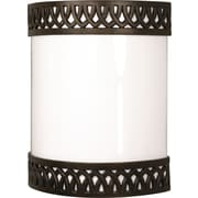 Satco Lighting 1 Light Old Bronze Wall Sconce with White Plastic Shade (STL-SAT609312)