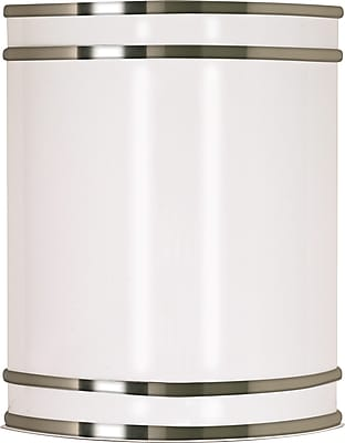 Satco Lighting 1 Light Brushed Nickel Wall Sconce with White Plastic Shade (STL-SAT609077)