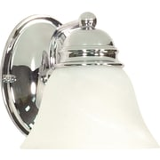 Satco Lighting 1 Light Polished Chrome Bath Vanity with Alabaster Glass Shade (STL-SAT603365)