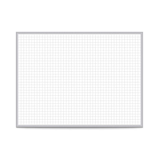 "Ghent 1"" x 1"" Grid Whiteboard, 4'H x 8'W (GRPM221G-48)"