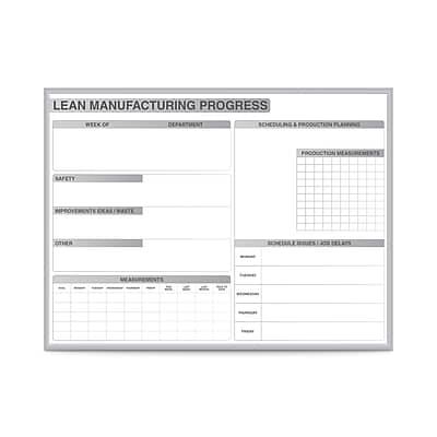 Ghent 2' H x 3' W LEAN Manufacturing Magnetic Whiteboard (GRPM302M-23)