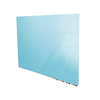 Ghent Aria 3'H x 4'W Low Profile Glass Whiteboard, Blue (ARIASN34BE)