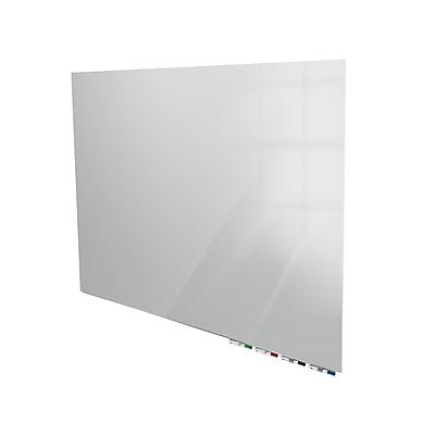 Ghent Aria 3'H x 4'W Low Profile Glass Whiteboard, Gray (ARIASN34GY)