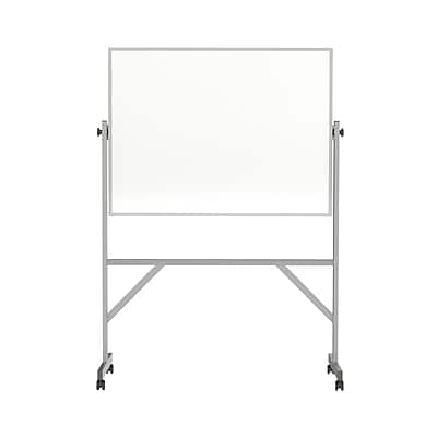 Ghent 3'H x 4'W Reversible Magnetic Porcelain Whiteboard with Aluminum Frame (ARM1M134)