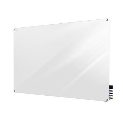 Ghent Harmony 4'H x 8'W Glass Whiteboard with Radius Corners, White (HMYRN48WH)