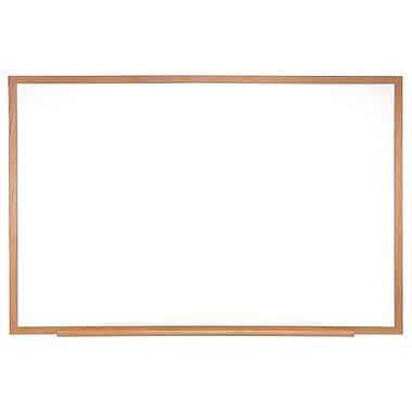 Ghent 4' H x 8' W Magnetic Painted Steel Whiteboard with Wood Frame (M3W-48-4)