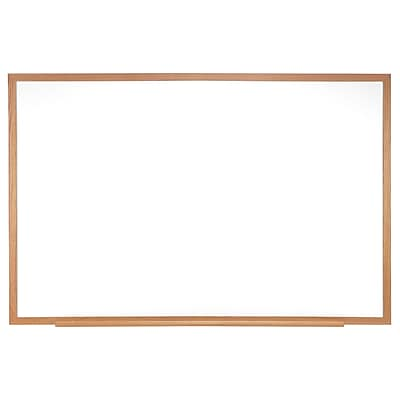 Ghent 4'H x 6'W Magnetic Painted Steel Whiteboard with Wood Frame (M3W-46-4)