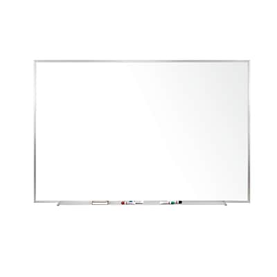 Ghent 4' H x 6' W Magnetic Painted Steel Whiteboard with Aluminum Frame (M3-46-4)